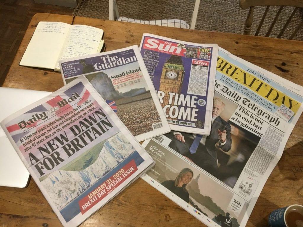 Brexit-median juhlapäivä